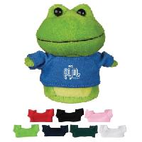 "4"" Mini Plush Buddies Frog With Shirt"